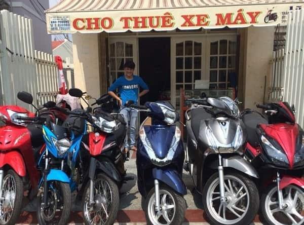 Bãi thuê xe máy ở Nha Trang