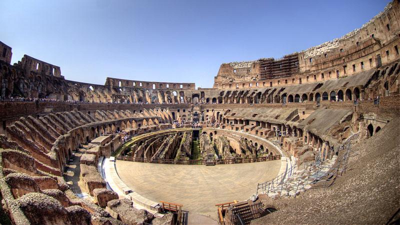 Đấu trường La Mã được xây dựng xong vào năm 80 TCN