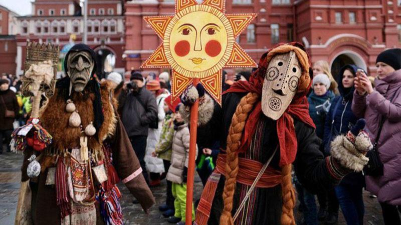 Độc đáo lễ hội tiễn mùa đông ở Nga