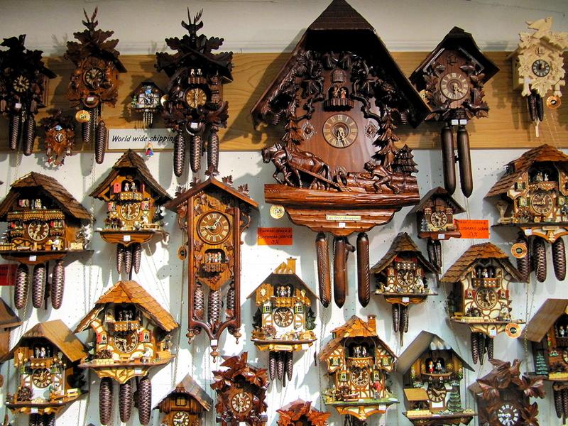 Du lịch Đức - Đồng hồ gỗ cúc cu