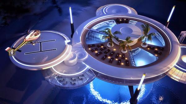 Du lịch Dubai - Khách sạn Water Discus Dubai lớn nhất thế giới