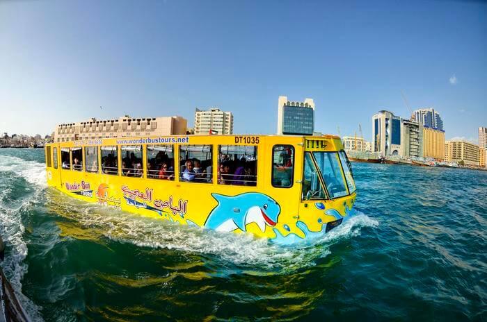Du lịch Dubai - xe buýt nước