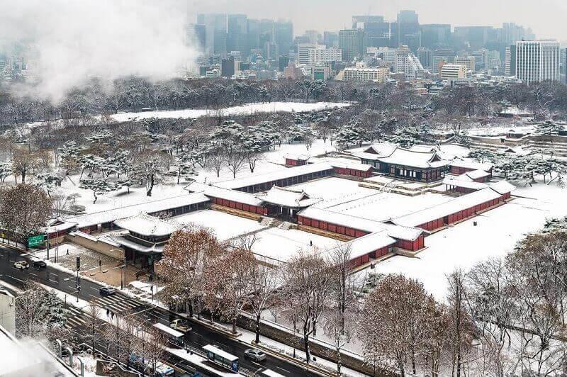 Du lịch Hàn Quốc mùa Đông khám phá cung điệnChanggyeonggung
