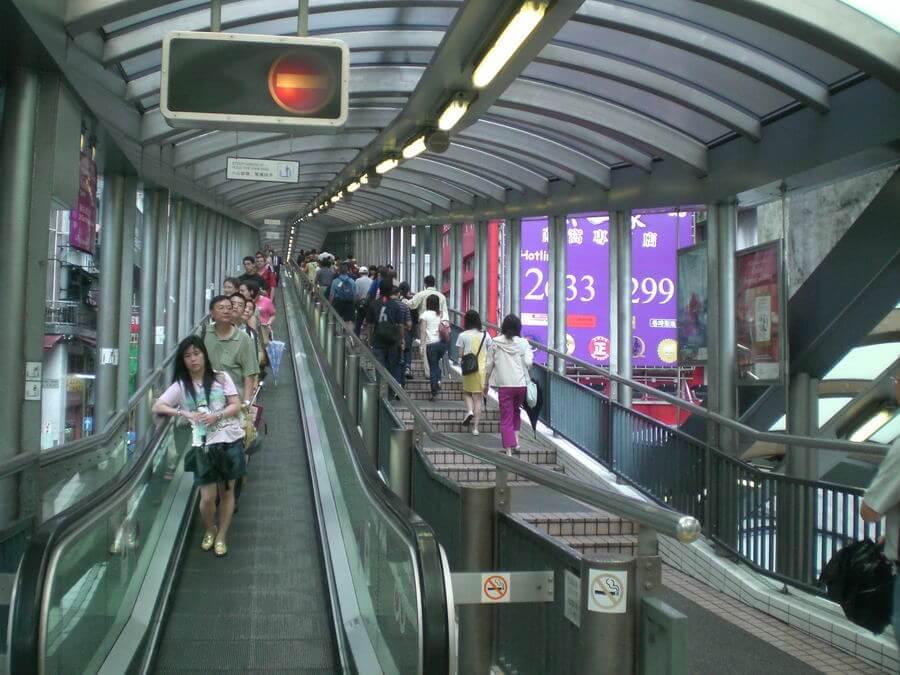 Du lịch Hồng Kông - Thang cuốn