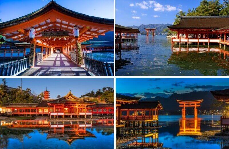 Du lịch Nhật Bản mùa Đông - Cánh cổng màu đỏ ngập trong nước ở đền Itsukushima