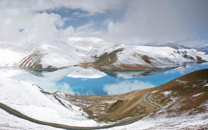 Tây Tạng vào mùa Đông phủ đầy tuyết trắng