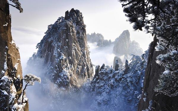 Du lịch Trung Quốc mùa Đông ngắm núi Hoàng Sơn
