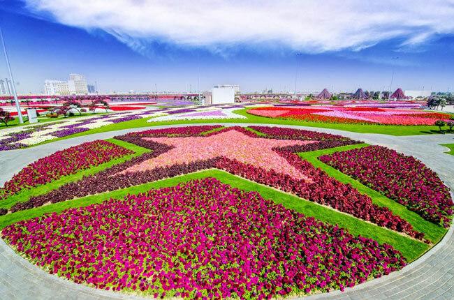 Du lịch Dubai - vườn hoa Dubai