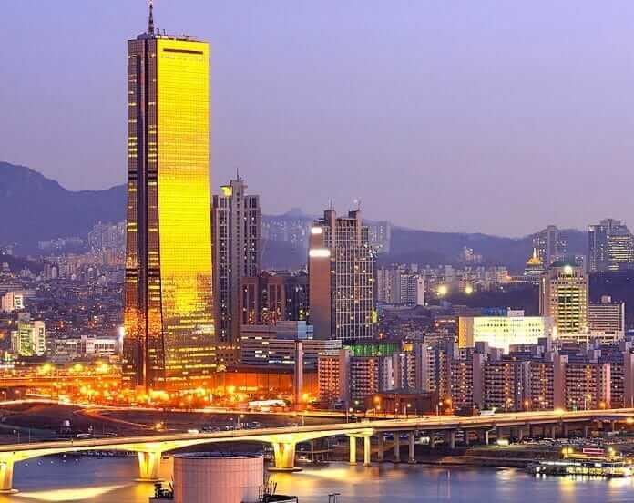Khách du lịch Hàn Quốc có thể ngắm nhìn Seoul từ tòa nhà 63 tầng