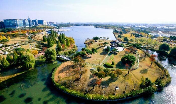 Công viên Hồ Ilsan - điểm du lịch nổi tiếng khi mùa xuân về