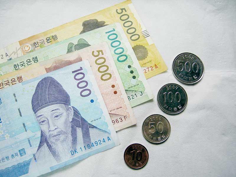 Tiền là yếu tố không thể thiếu khi đi du lịch Hàn Quốc