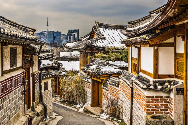Du lịch Hàn Quốc mùa đông khám phá Làng cổ Bukchon Hanok