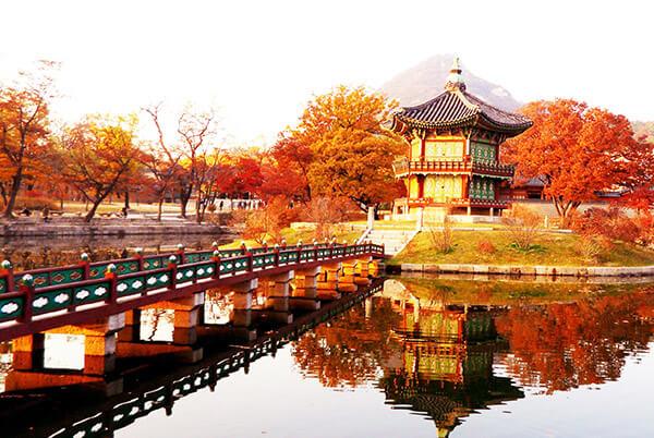 Du lịch Hàn Quốc mùa Thu - Cung điện Seoul