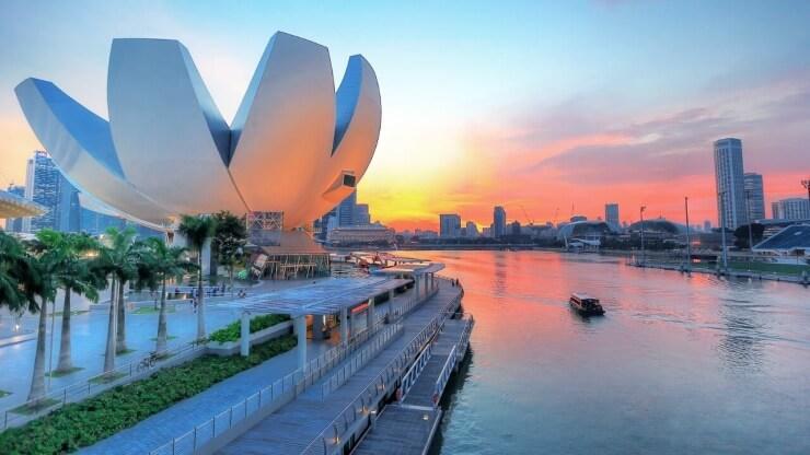 Du lịch Singapore - bảo tàng Art Science Museum