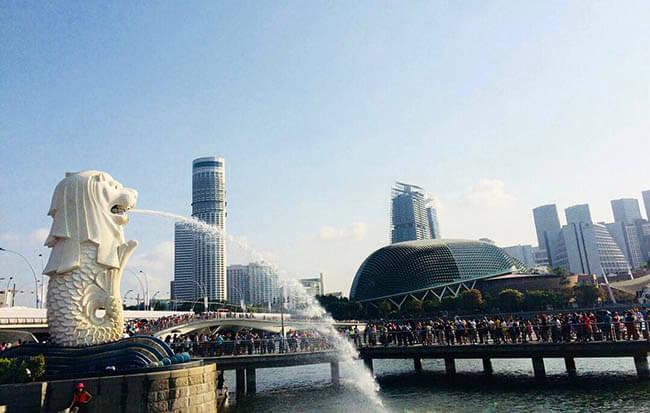 Du lịch Singapore mùa Thu - Merlion