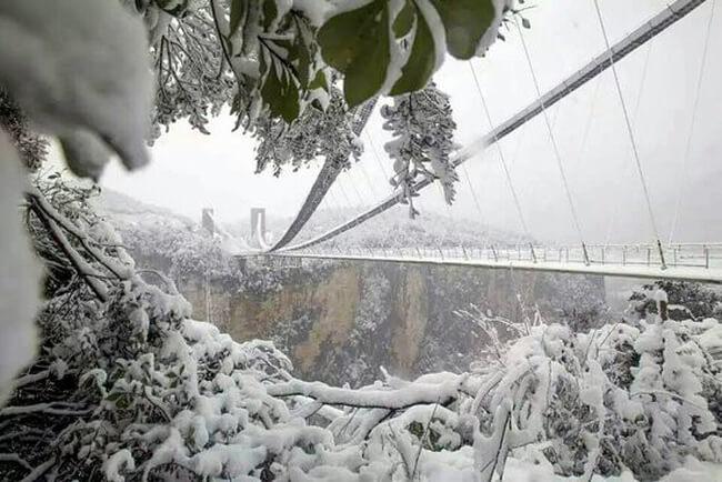 Khám phá Thiên Môn Sơn mùa Đông ở Trương Gia Giới