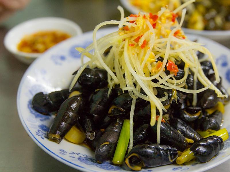Du lịch Đà Nẵng - Món ăn Đà Nẵng - Mít trộn - Ốc hút