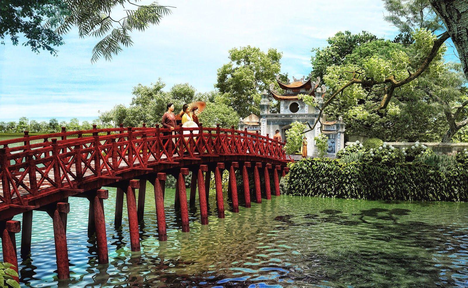 Du lịch trong nước - Cầu Thê Húc thủ đô Hà Nội
