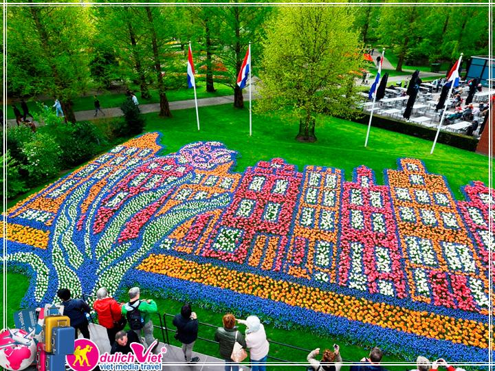 Du lịch Châu Âu Pháp - Bỉ - Hà Lan lễ hội hoa Tulip từ Sài Gòn 2018