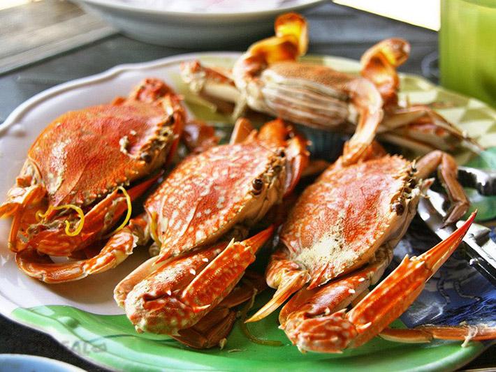 Món Ghẹ hấp luôn là món ăn ngon - bổ - rẻ được lựa chọn nhiều nhất ở Nam Du