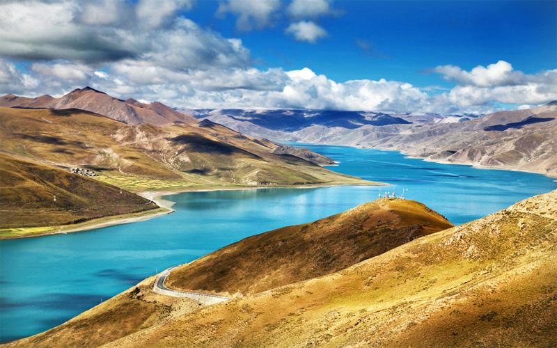 Vẻ đẹp của mùa thu Tây Tạng bên hồ thiêng Nam-tso vô cùng tuyệt đẹp
