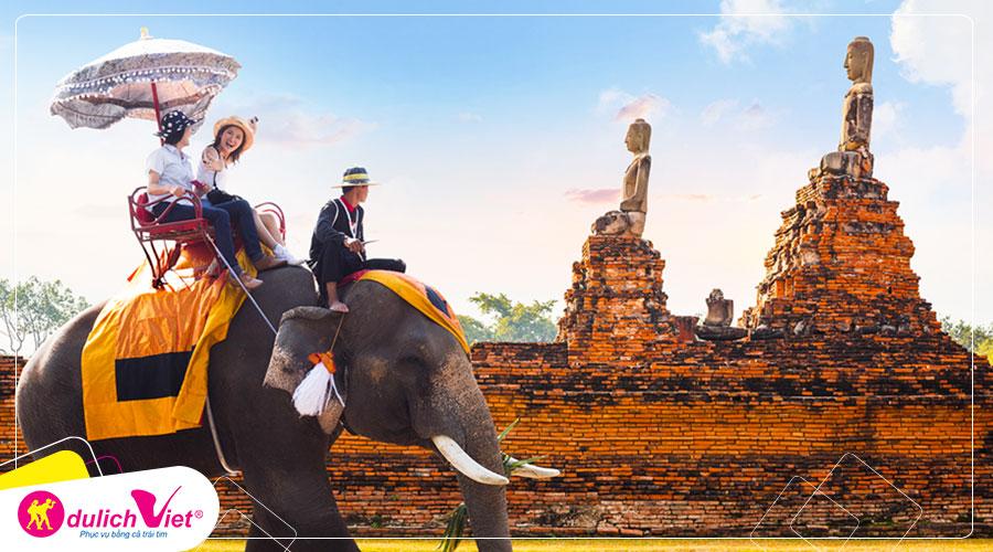 Du lịch Thái Lan mùa Thu Bangkok - Pattaya - Safari Word - Chợ nổi bốn miền từ Sài Gòn