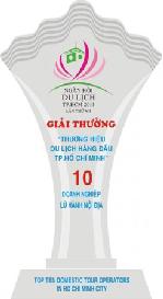 Giải thưởng top 10 doanh nghiệp lữ hành Quốc tế hàng đầu