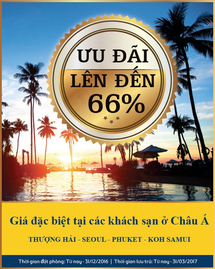 Đặt Phòng khách sạn ở Châu Á giá đặc biệt ưu đãi lên đến 66%