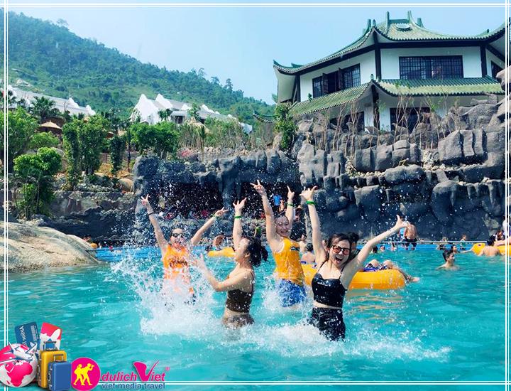 Du lịch Miền Trung - Công viên Suối Khoáng Nóng Núi Thần Tài Tết 2017