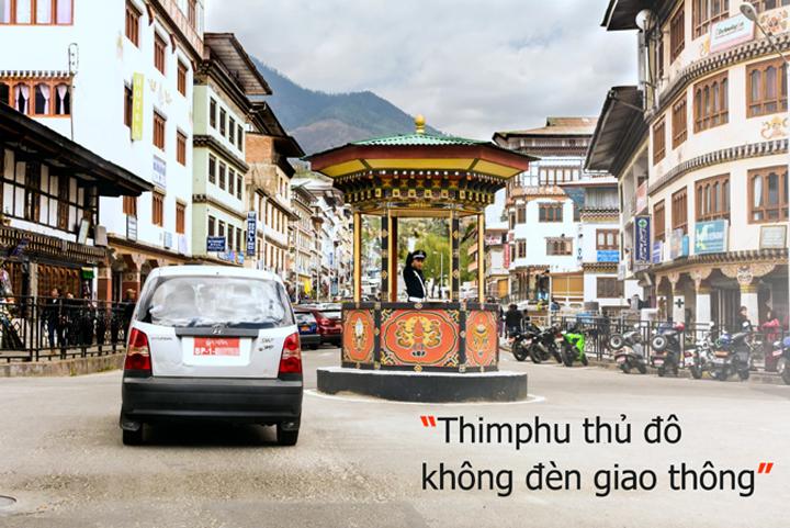 Thủ đô của Bhutan không có đèn giao thông