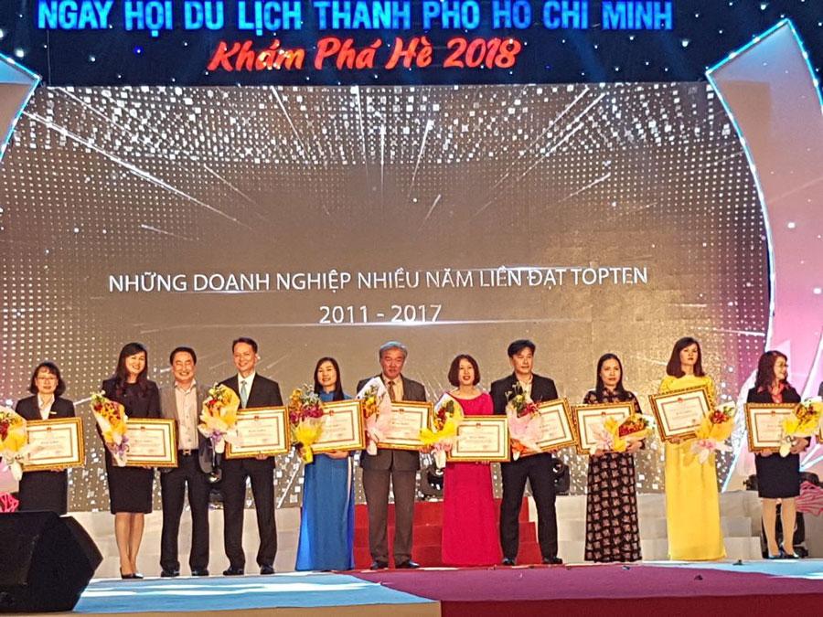 Du Lịch Việt 8 năm liền vinh dự nhận Giải thưởng du lịch TP. HCM