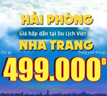 Bán vé máy bay Từ Hải Phòng đi Nha Trang giá tốt 2016