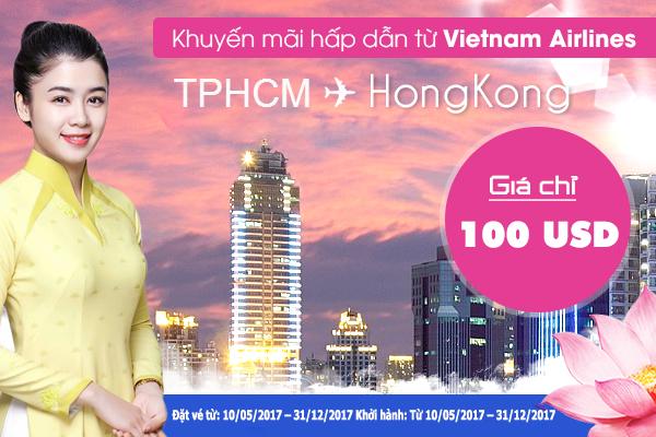vietnam airline khuyen mai dac biet chuyen bay hcm - hong kong