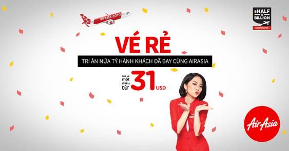 Air Asia triển khai khuyến mãi tuần sau chỉ  từ 31 USD