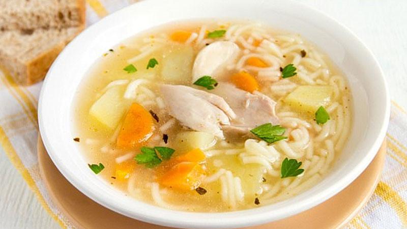 Món súp gà thật độc đáo và ngon mắt