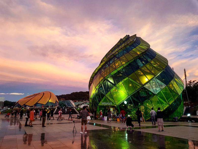 Khung cảnh quảng trường Lâm Viên Đà Lạt