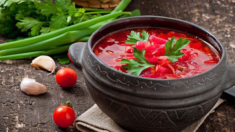 Soup củ cải đỏ