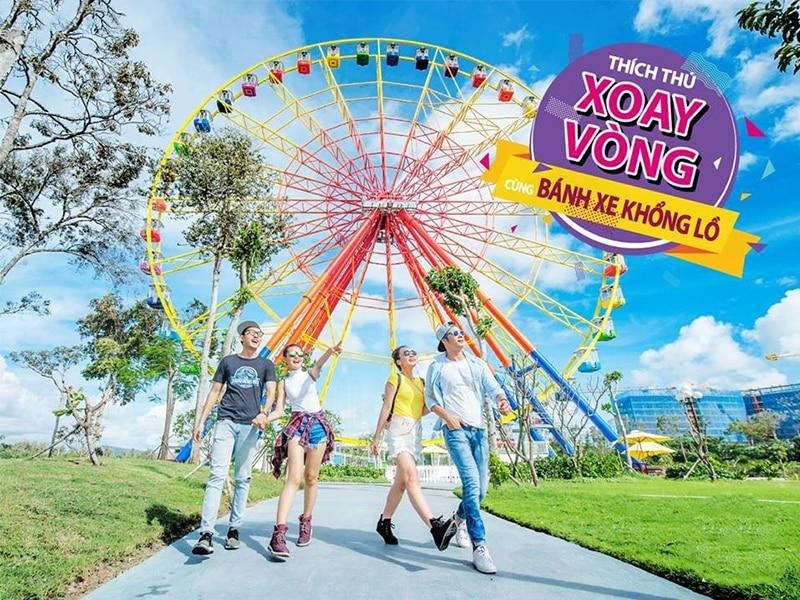 Những trò chơi mạo hiểm trong khu trò chơi ngoài trời ở Vinpearl Land Phú Quốc