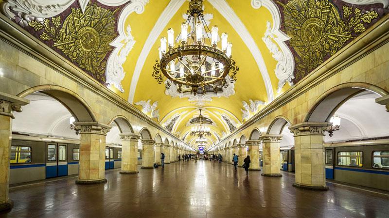 Tuyến tàu điện ngầm Moscow Metro vang danh toàn cầu