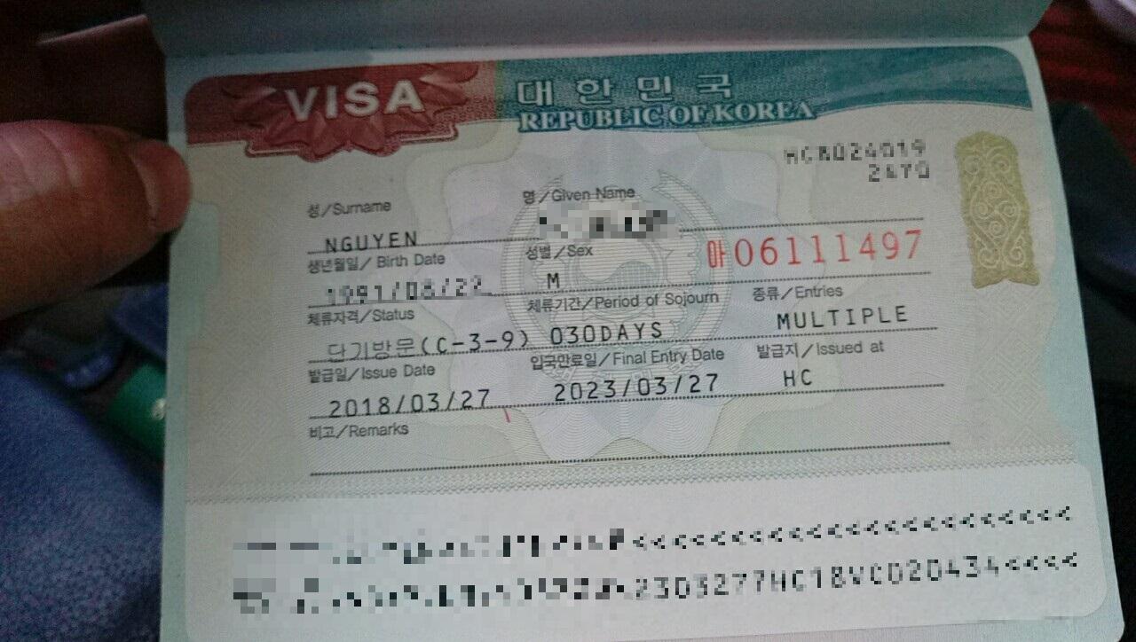 Du lịch Hàn Quốc - Hiệu lực visa Hàn Quốc